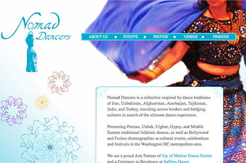Nomad Dancers Website